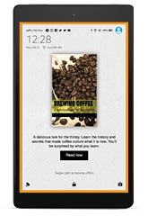 Full-screen ad on Amazon Fire Tablet in full-color display