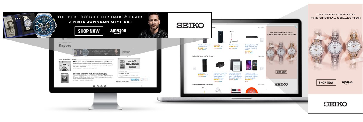 Seiko ads on Amazon