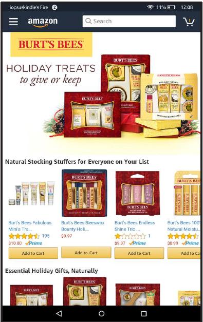 advertising on Amazon - Burt's Bees on Amazon