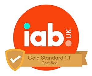 IAB UK Gold Standard 1.1 Certified