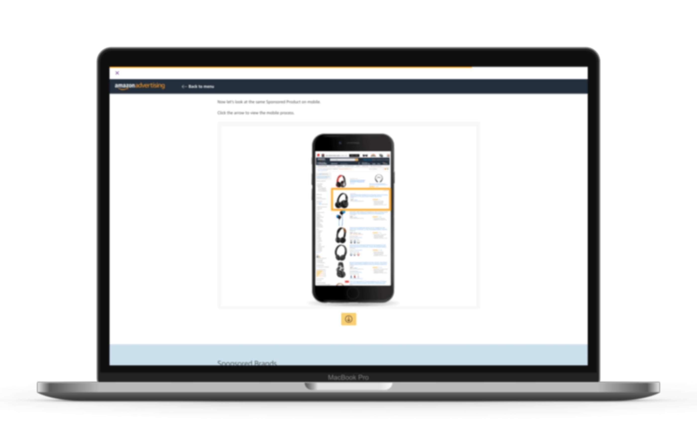 Pc portatile che mostra una pagina della console di apprendimento