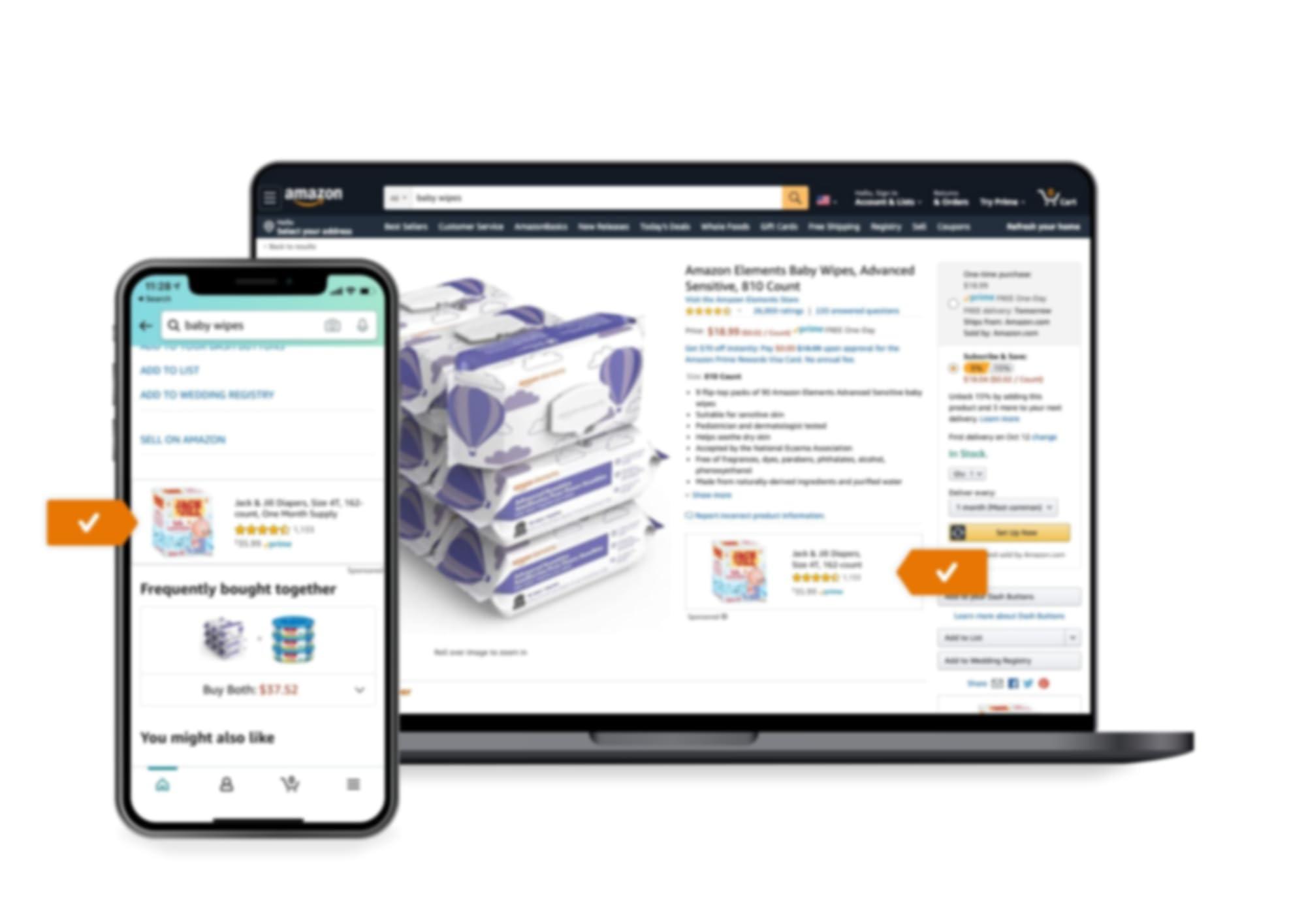 Ubicación del anuncio de Sponsored Display en la página de producto