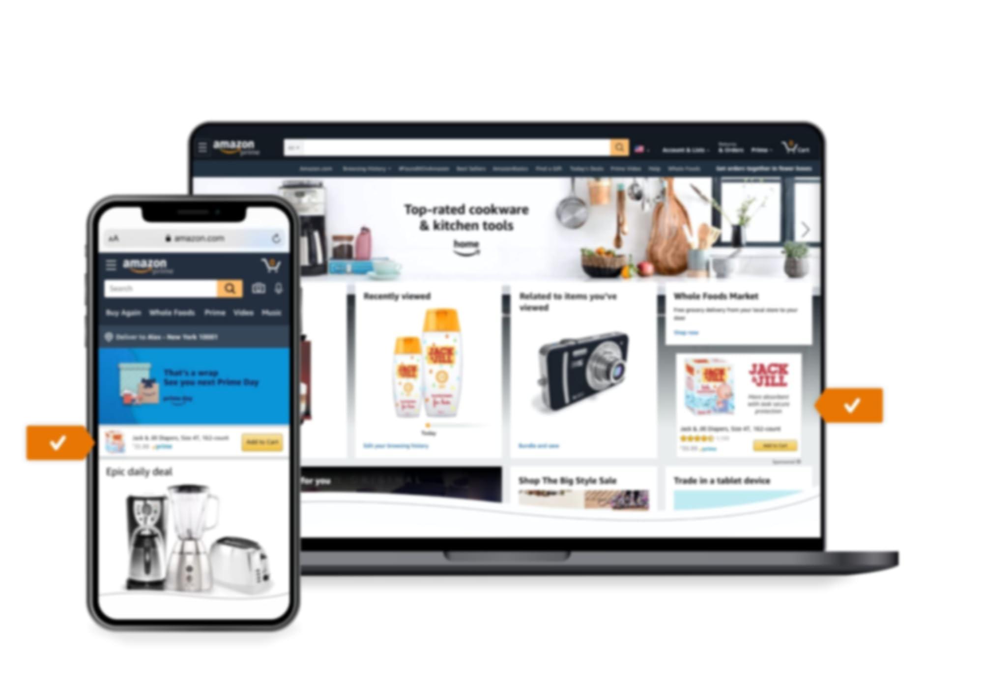 Ubicación del anuncio de Sponsored Display en la página de inicio de Amazon