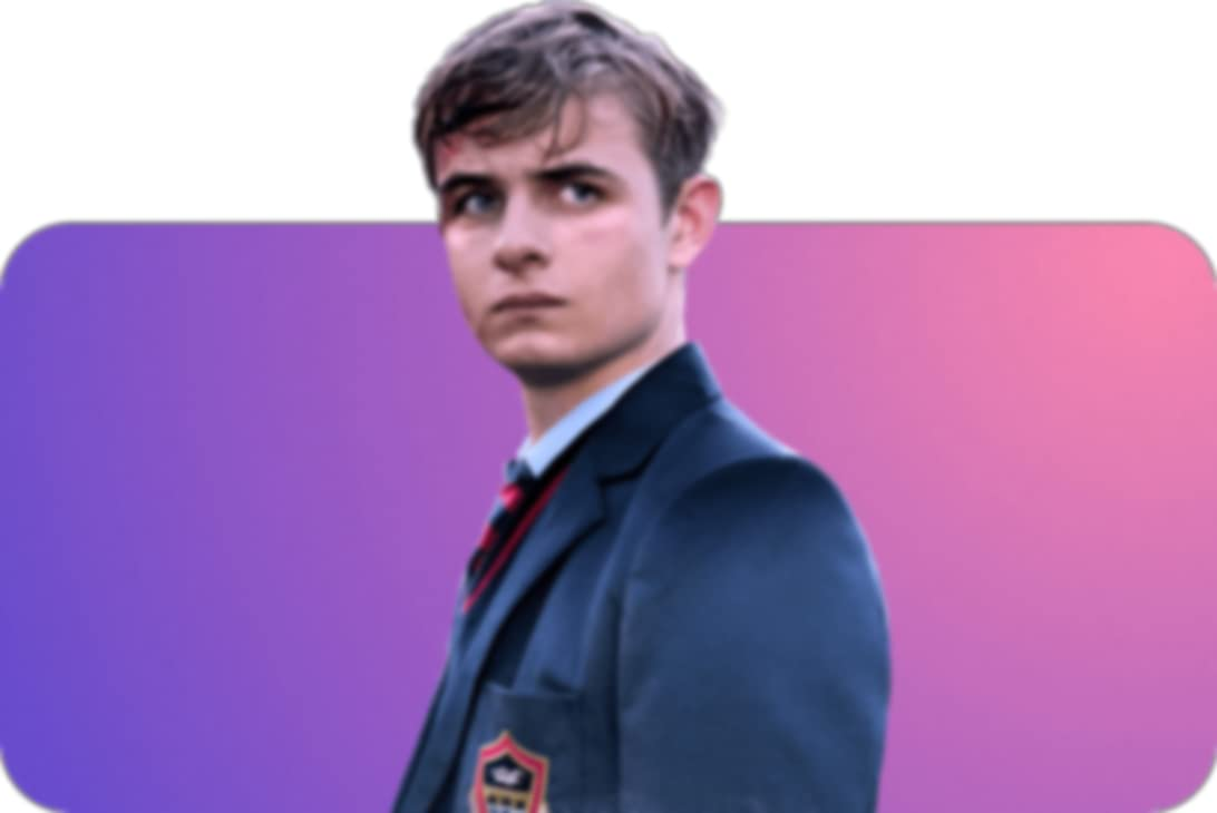 """Otto Farrant posing as """"Alex Rider"""" from the IMBD TV series Alex Rider."""
