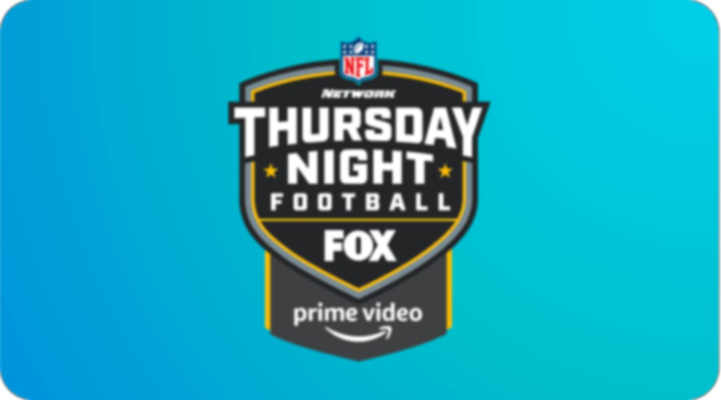 Noche de jueves de fútbol americano, con el logotipo de Fox y Prime Video en la parte inferior.