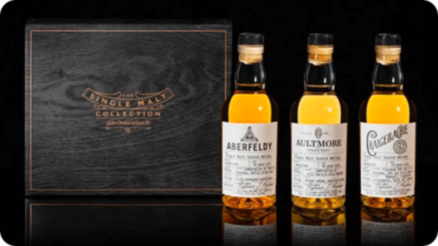aberfeldy, aultmore, and Craigellachie malt whiskey