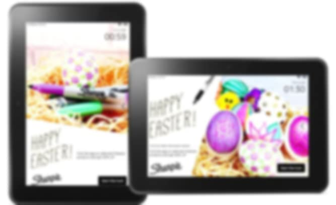 Sharpies ads on Fire tablets