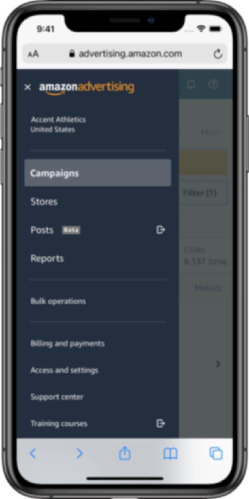 Side bar menu on mobile