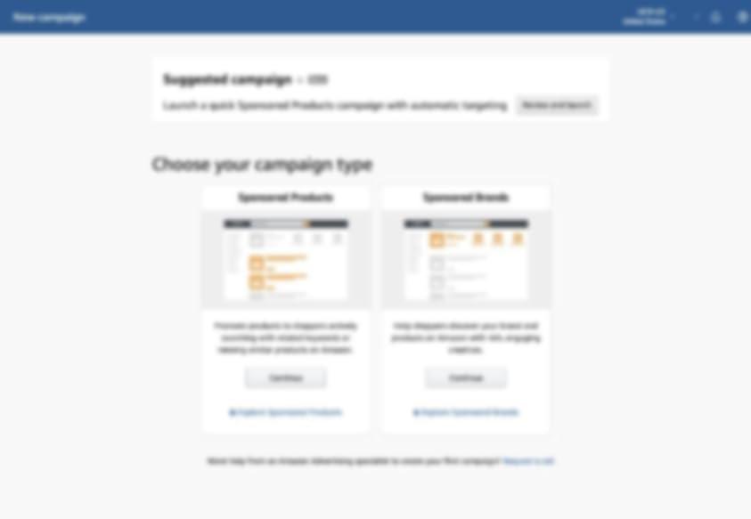 ads console new campaign screen