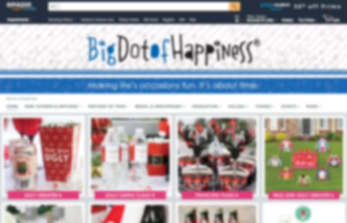 Store page of Big Dot of Happiness on amazon.com