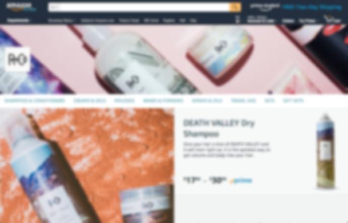 Pagina dello Store di R+Co su amazon.com