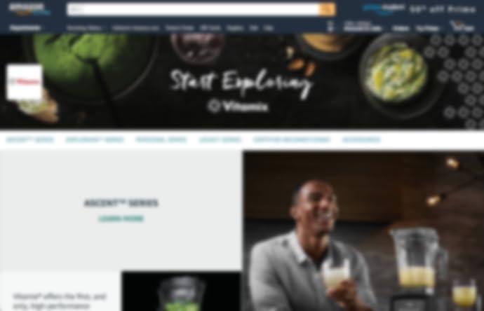 صفحة متجر Vitamix على amazon.com