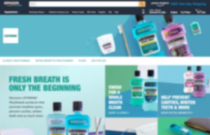Pagina dello Store di Listerine su amazon.com