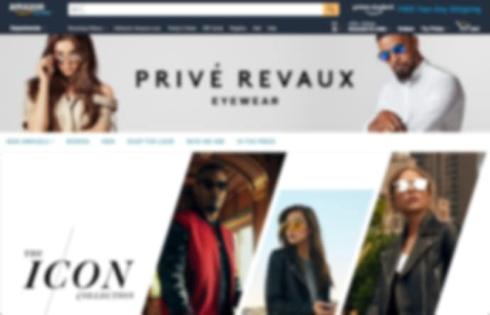 Store page of Privé Revaux on amazon.com