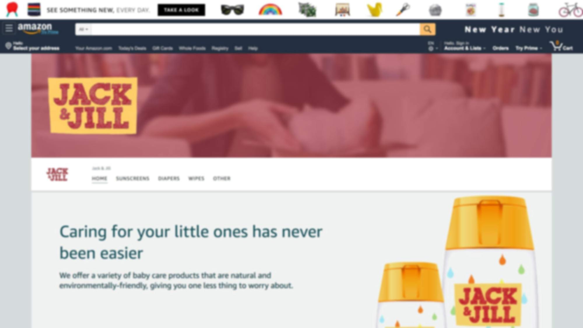 JACK&JILL的亚马逊品牌推广广告