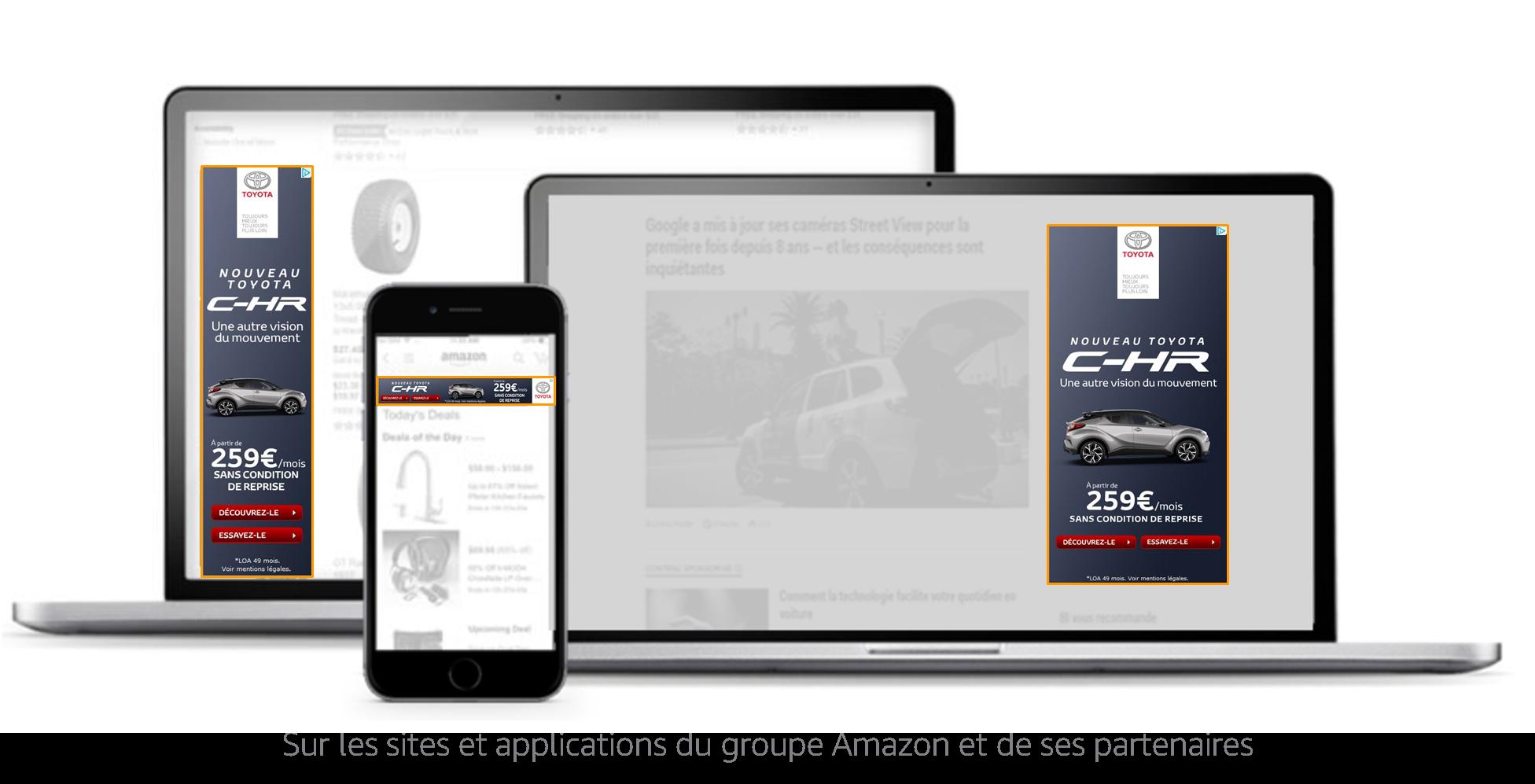Sur les sites et applications du groupe Amazon et de ses partenaires