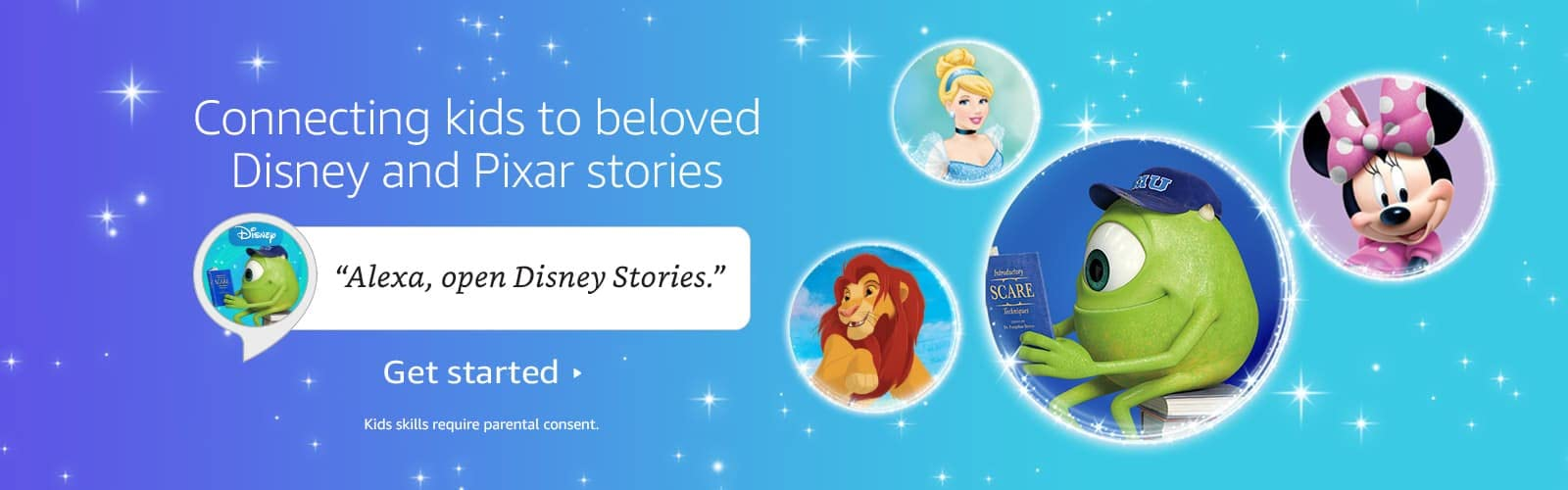 alexa open Disney and Pixar stories
