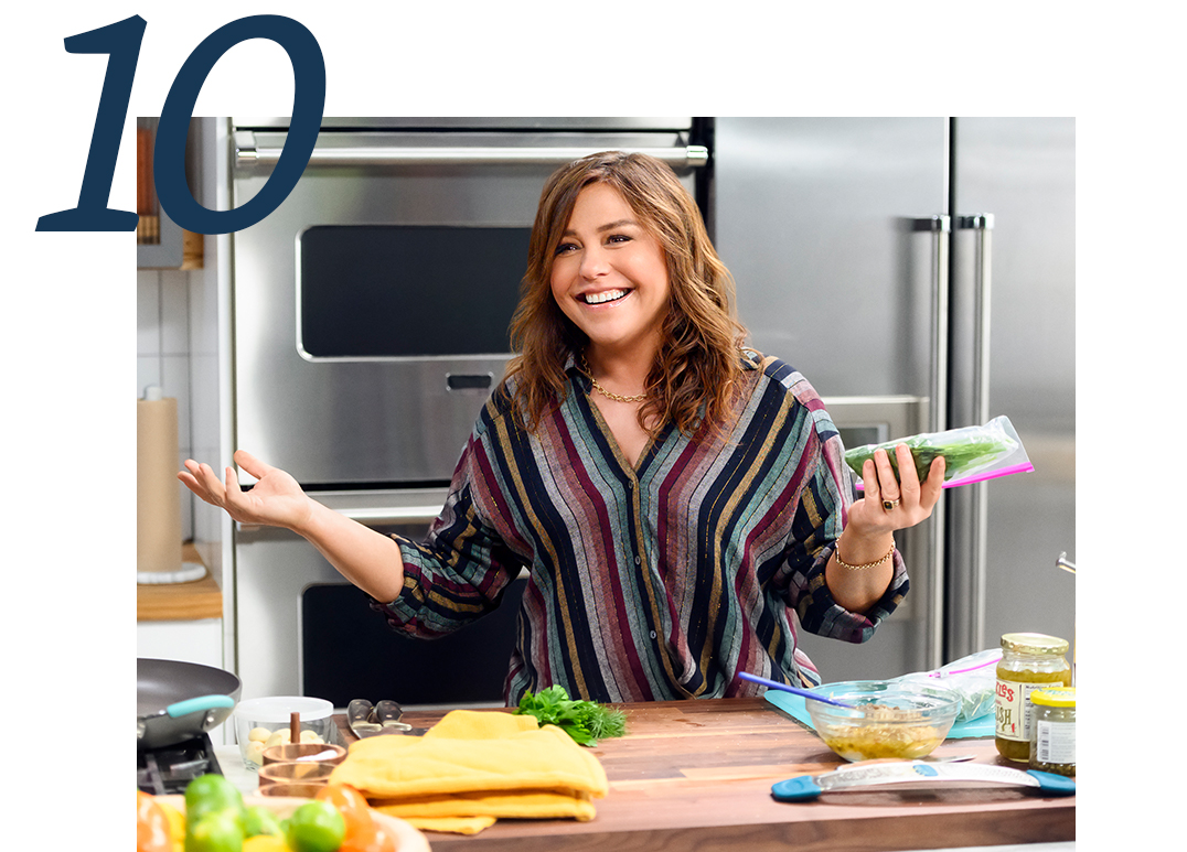 cooking with Rachael ray