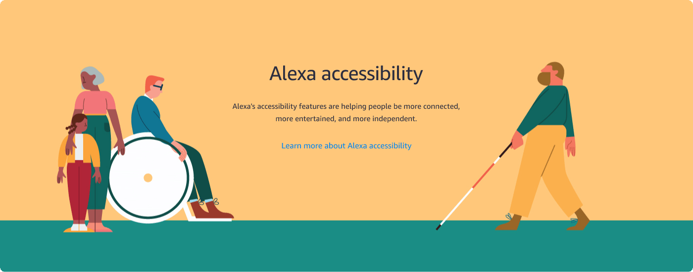 learn more about Alexa accessibility