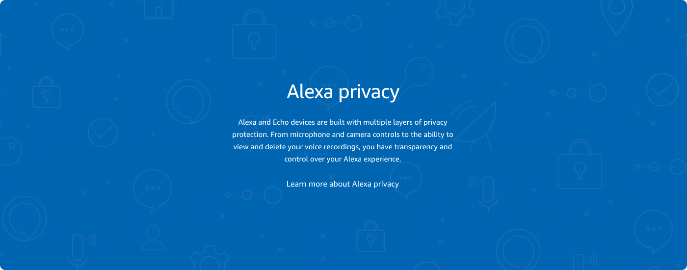 Learn more about Alexa Privacy
