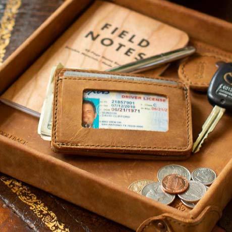 Saddleback Leather Co. front pocket ID wallet
