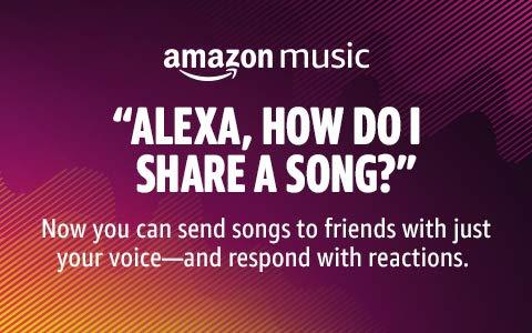 Share Songs on Alexa