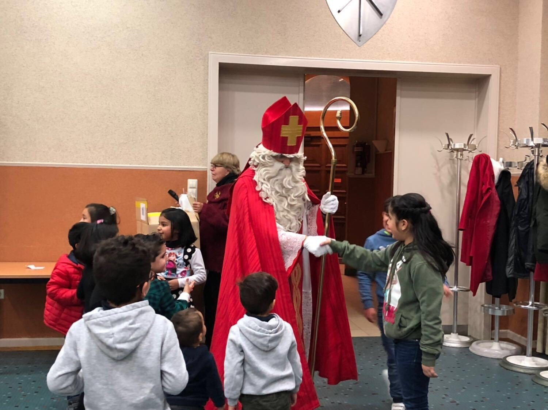 Meeting with St Nicolas