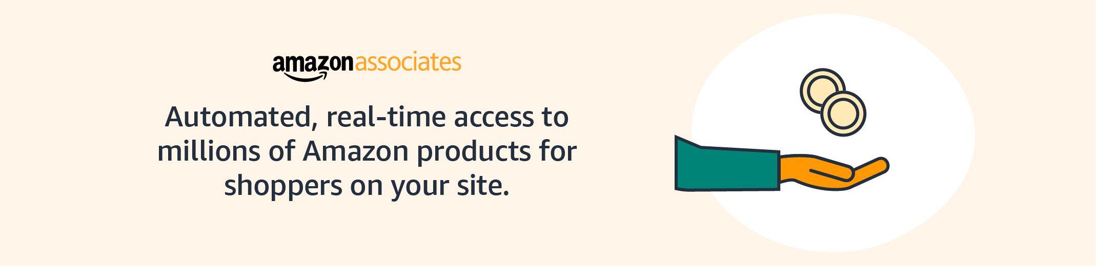 Automated, real-time access to millions of Amazon products for shoppers on your site.