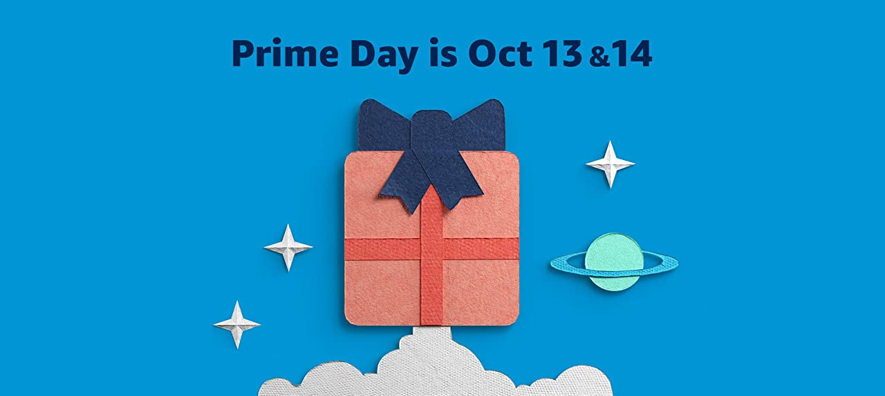 Prime Day banner with dates oct 13 7 14