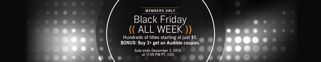 Audible's Black Friday all week sale