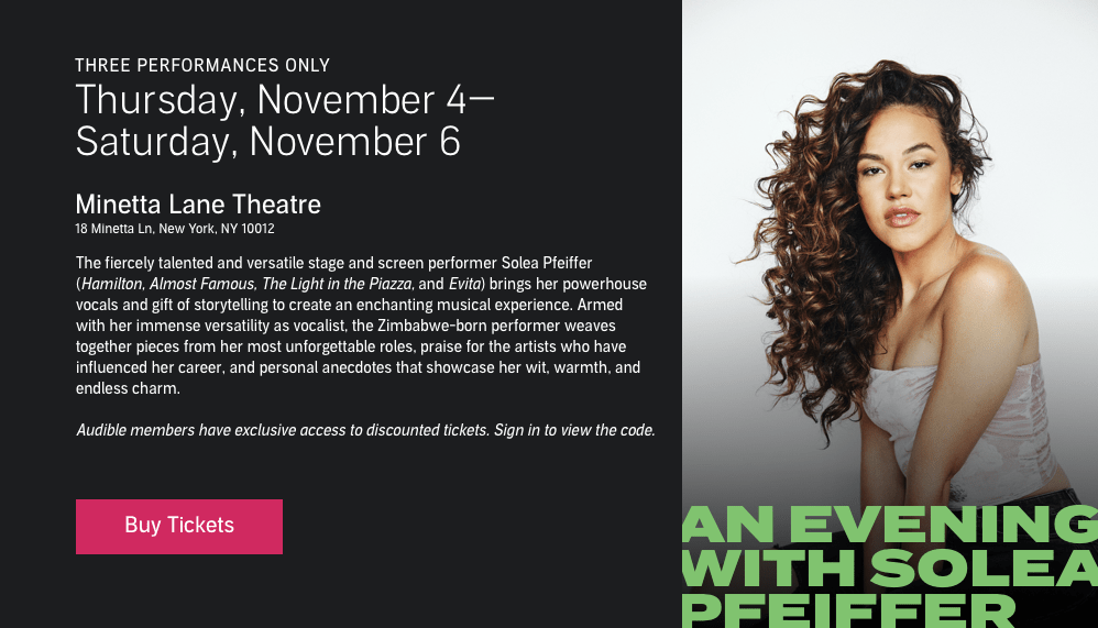 Buy tickets to An Evening with Solea Pfeiffer