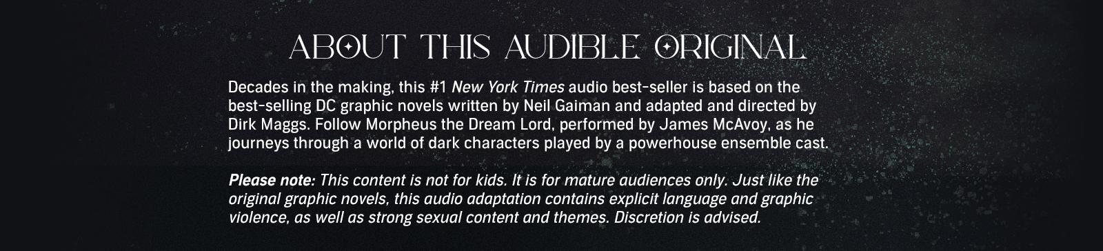 An Audible Original series by Neil Gaiman