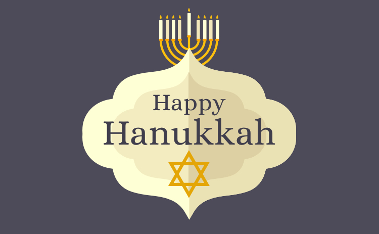 Hanukkah Card Purple