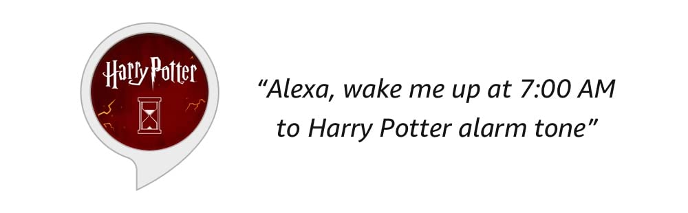 Harry Potter | Alexa, wake me up at 7:00 AM to Harry Potter alarm tone