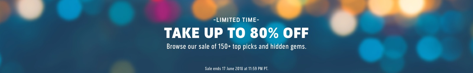 Take Up to 80% off! Choose from 150+ of our top picks and hidden gems.