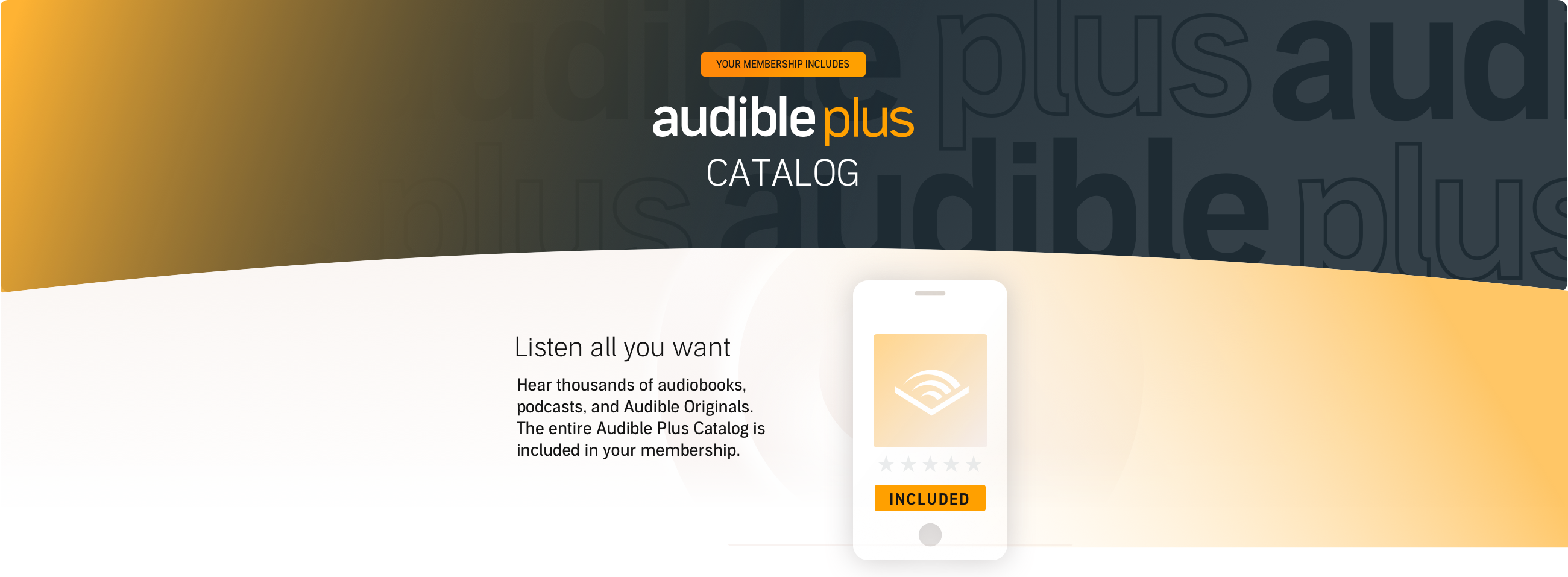 New and Free for Members Audible Plus Collection