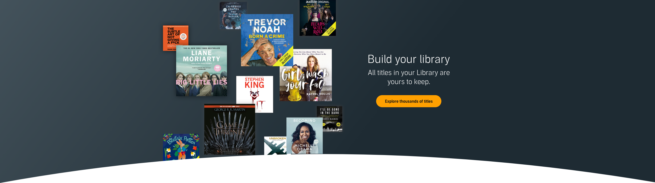 Explore Thousands of Audible Titles