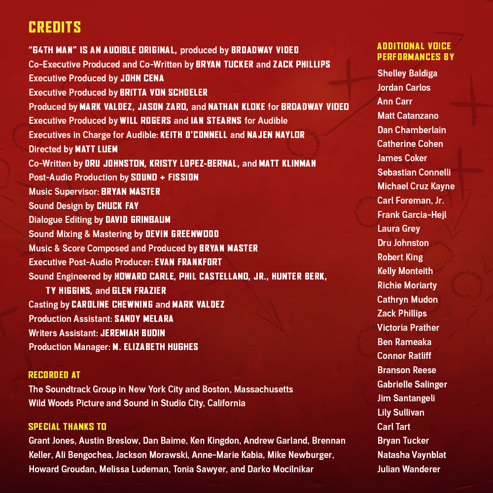 64th Man Credits