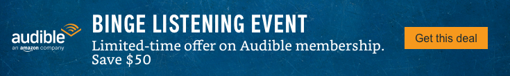 Limited-time offer on Audible membership. Save $50. Get this deal.