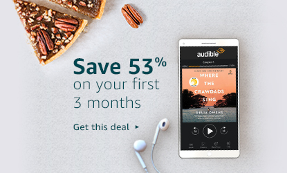Limited-time offer on Audible membership. Save 53% on your first 3 months. Get this deal.