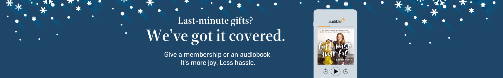 Give the gift of audible. These holidays, give them more of what they're into with an Audible gift