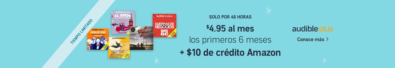 Solo $4.95 al mes por los primeros 6 meses de Audible Plus.