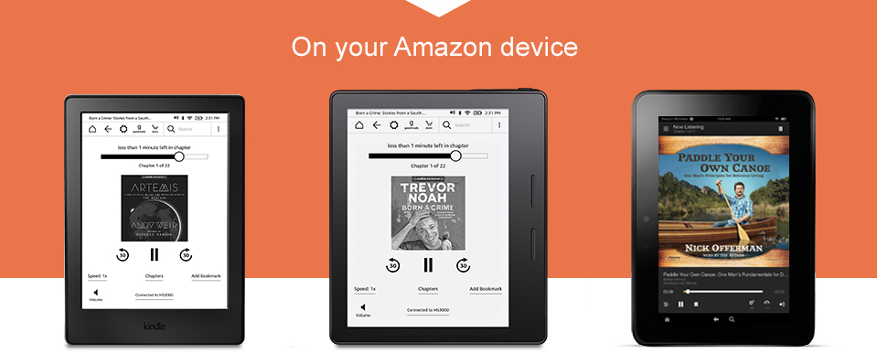 Listen to Audible on your Amazon device