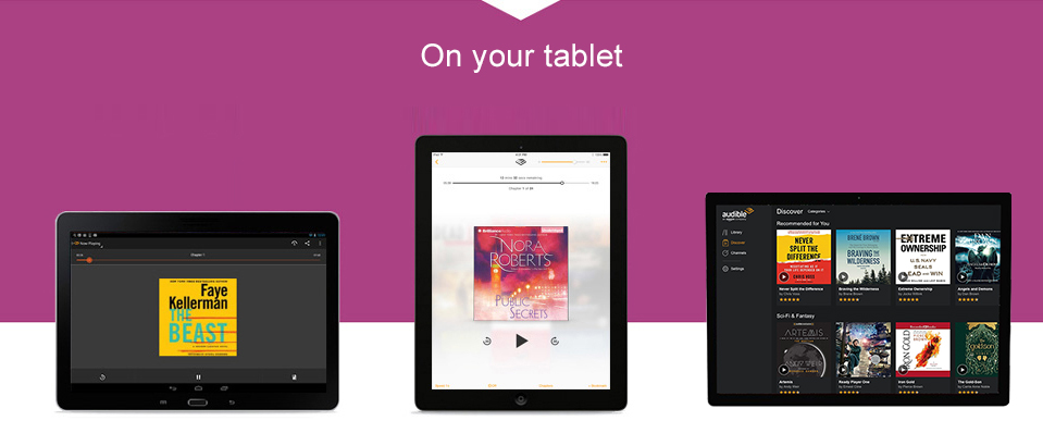 Listen to Audible on your tablet