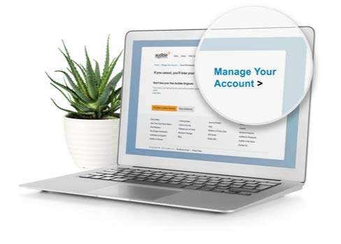 Manage your Audible account online.
