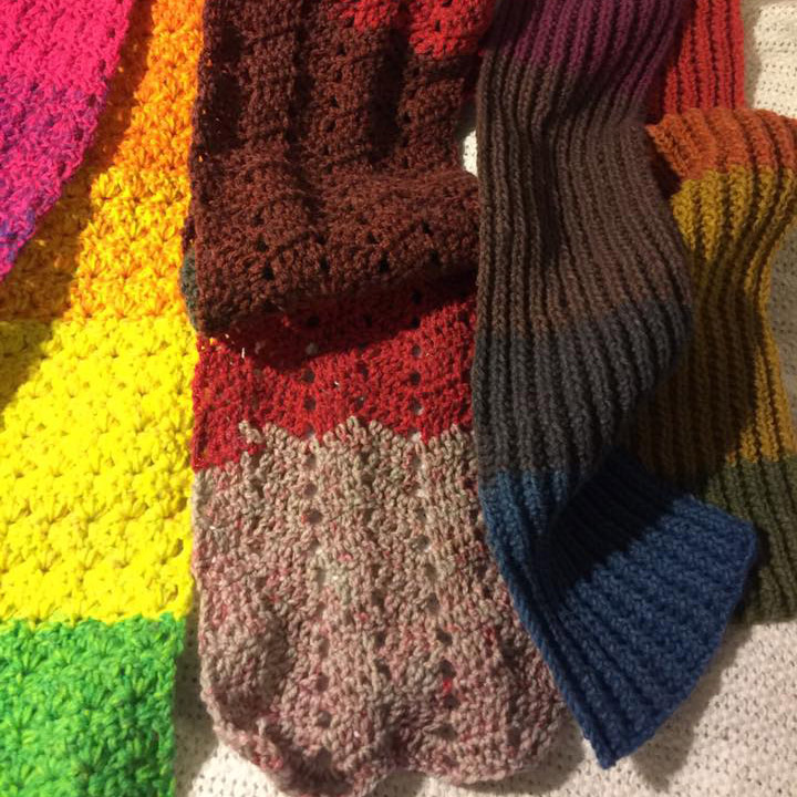 Knit & crochet scarves by Mary M.
