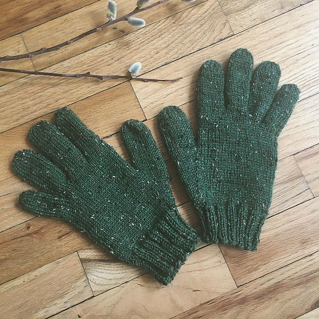 Knitted gloves by Robyn T.