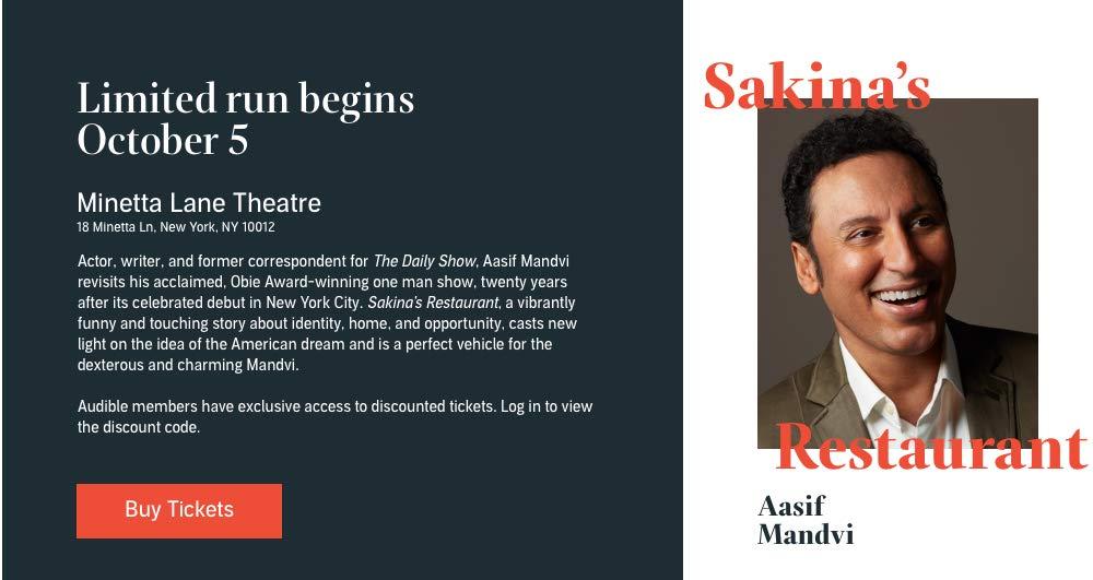 Sakina's Restaurant, starring Aasif Mandvi