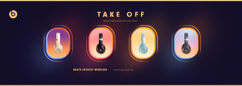Apple/W1/Chip Beats/Studio3/Over-Ear/Bluetooth Kopfh/örer mit Noise-Cancelling/ Bluetooth der Klasse/1 aktives Noise-Cancelling Blau 22/Stunden Wiedergabe/