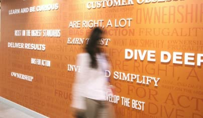 Amazon Leadership Wall